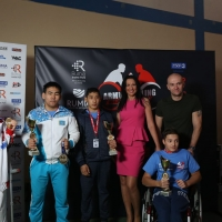 Anna Mazurenko with competitors - Disabled World Cup 2017 # Armwrestling # Armpower.net